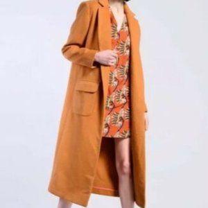 Glamorous Camel Wool Long Winter Coat US Size 8